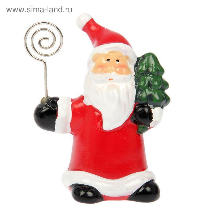 """Сувенир """"Дед Мороз с ёлочкой"""" с держателем для записок"""