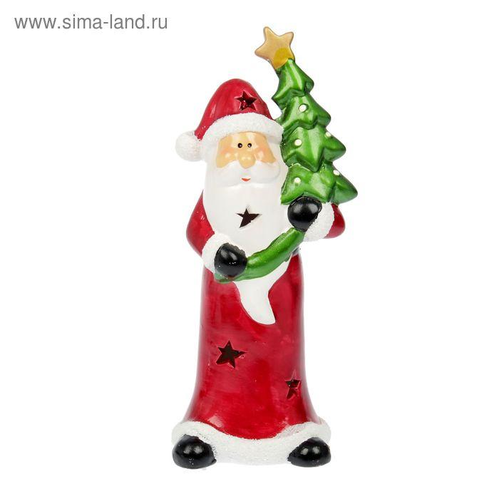 "Сувенир ""Дедушка Мороз и ёлочка"" световой"