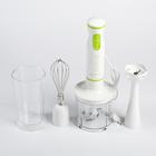 Блендер ручной Polaris PHB 0528, 3в1, 500Вт, 2 скорости, белый/зеленый