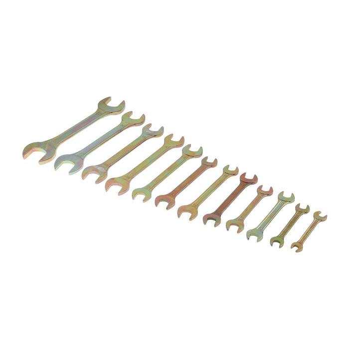 Набор ключей рожковых TUNDRA basic, холдер, желтый цинк, 12 шт, 8-32 мм