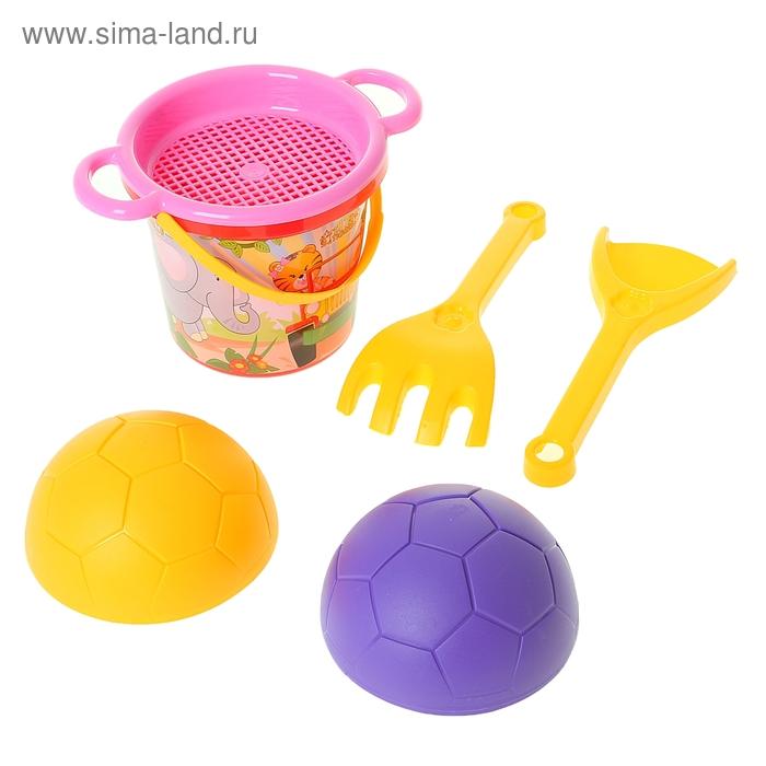 """Песочный набор """"Тигренок"""" с формочкой мяч, 6 предметов, МИКС"""