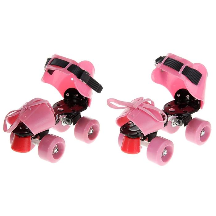 Ролики для обуви раздвижные, размер 19-25 см, колеса РVC d = 50 мм, цвет МИКС в пакете