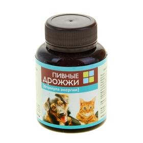 Пивные дрожжи 'Формула энергии'  для кошек и собак, с фосфором, 80 таб (комплект из 4 шт.)