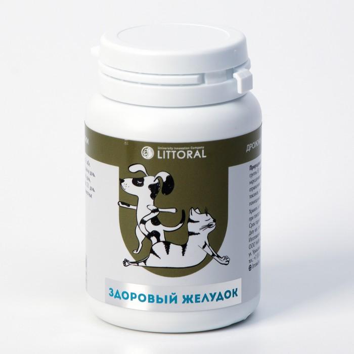 """Пивные дрожжи """"Здоровый желудок""""  для кошек и собак, с энтеросорбентом, 80 таб"""