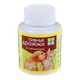 Пивные дрожжи с чесноком для кошек и собак, 80 таб (комплект из 4 шт.)