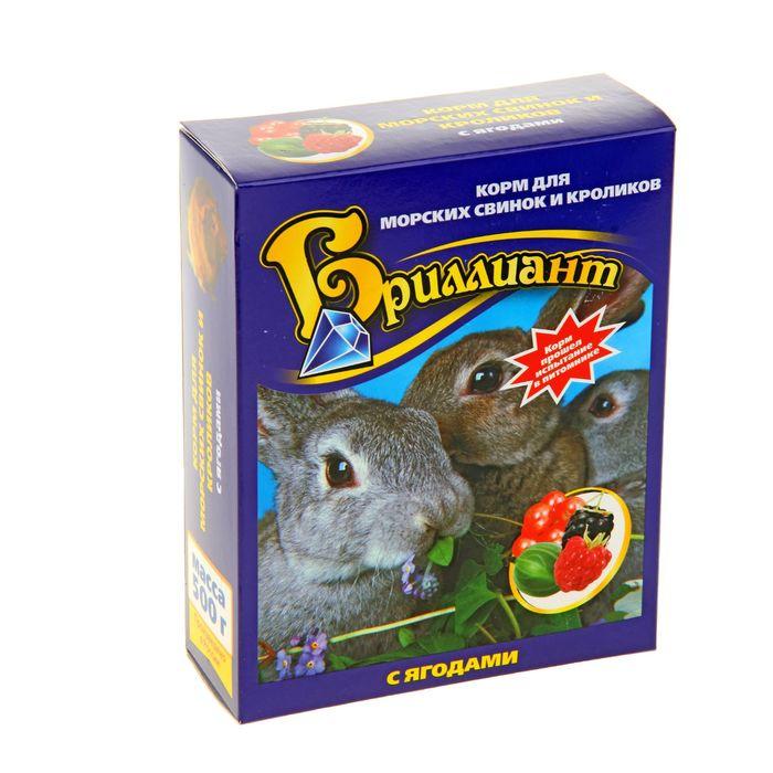 Корм «Бриллиант Люкс NEW» для морских свинок и кроликов, с ягодами, 500 г
