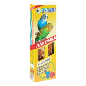 "Лакомка ""Бриллиант"" для птиц, медовый бисквит, 2 шт, 60 г"