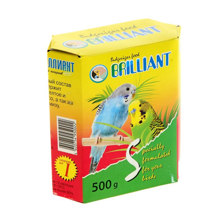 "Корм ""Бриллиант"" для попугаев, с йодом, 500 г"