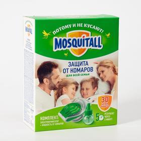"Комплект от комаров ""Mosquitall"", электрофумигатор + жидкость, 30 мл"