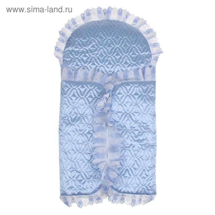 Комплект для новорожденного всесезонный, 10 предметов, цвет голубой