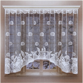 Curtain with curtain tape, width 260 cm, height 160 cm.