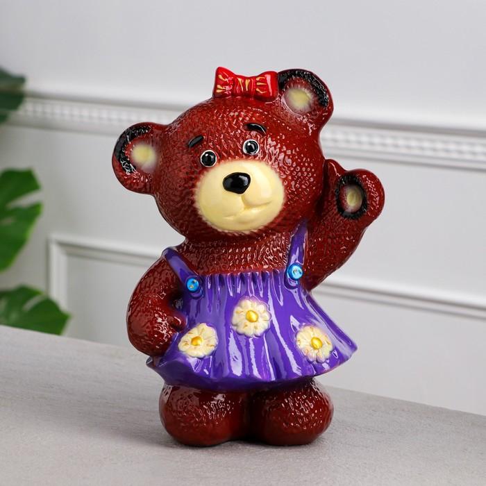 """Копилка """"Медведица в платье"""", глянец, коричневый цвет, 29 см, микс"""