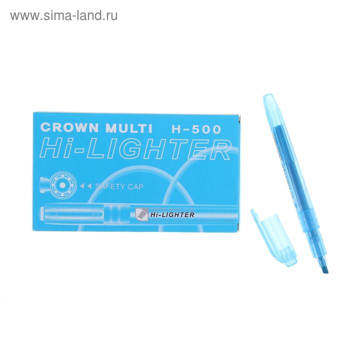 Маркер текстовыделитель 4.0 Crown H-500 голубой