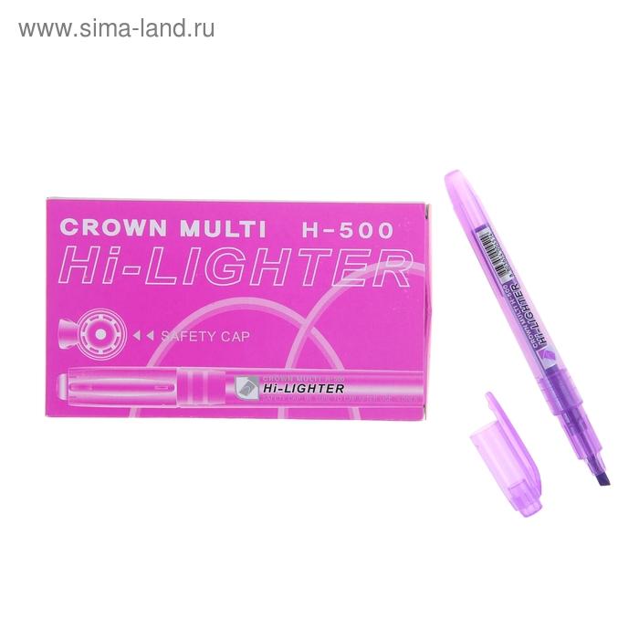Маркер текстовыделитель 4.0 Crown H-500 фиолетовый