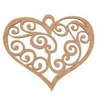 """Бирка для декора """"Ажурное сердце"""""""