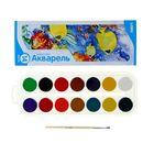 Акварель Lori «Рыбки», 14 цветов, в картонной коробке, с кистью