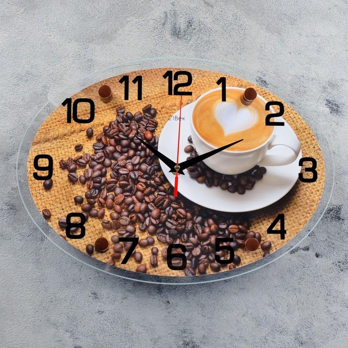 """Часы настенные, серия: Кухня, """"Чашка кофе"""", 24х34  см, микс"""