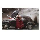 "Часы-картина настенные ""Rain"", 61х37 см микс"