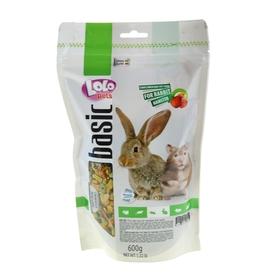 Корм для хомяков и кроликов LoLo Pets фруктовый, дойпак 600 г