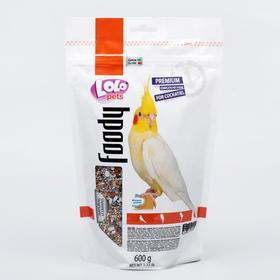 Корм полнорационный LoLo Pets для средних попугаев, дойпак, 600 г.