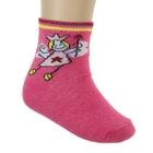 Носки для девочки S-131, цвет розовый, размер 20-22