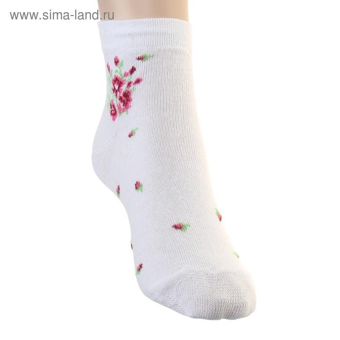 Носки женские укороченные DM-27, цвет белый, размер 25