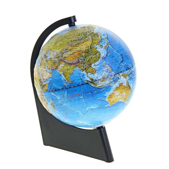 Глобус ландшафтный, рельефный, диаметр 210 мм, на треугольной подставке