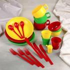 Дорожный набор посуды на 3 персоны в мягком футляре, цвета МИКС
