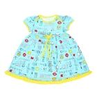 Платье с коротким рукавом для девочки, рост 92 см (2 года), цвет микс/набивка Л365