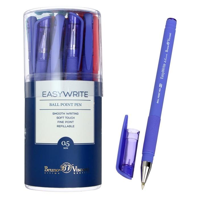 Ручка шариковая Bruno Visconti EasyWrite.JOY стержень синий, узел 0.5мм, 5 цветов МИКС