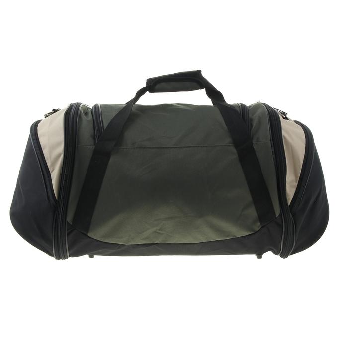 Сумка-трансформер дорожная, 1 отдел, 3 наружных кармана, длинный ремень, чёрный/хаки/бежевый, рисунок МИКС