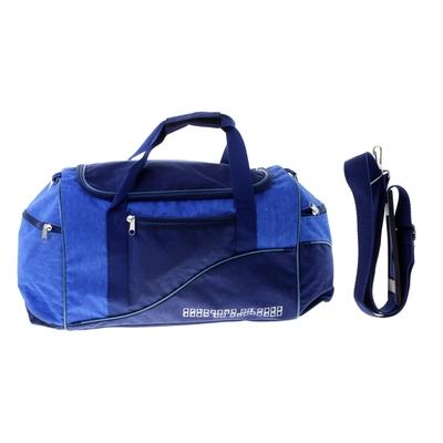 Сумка дорожная, 1 отдел, 3 наружных кармана, ремень, синий