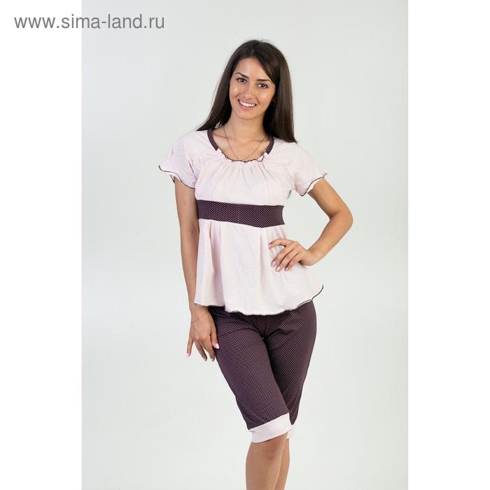 Пижама женская (футболка, бриджи) П-008 МИКС р-р 52
