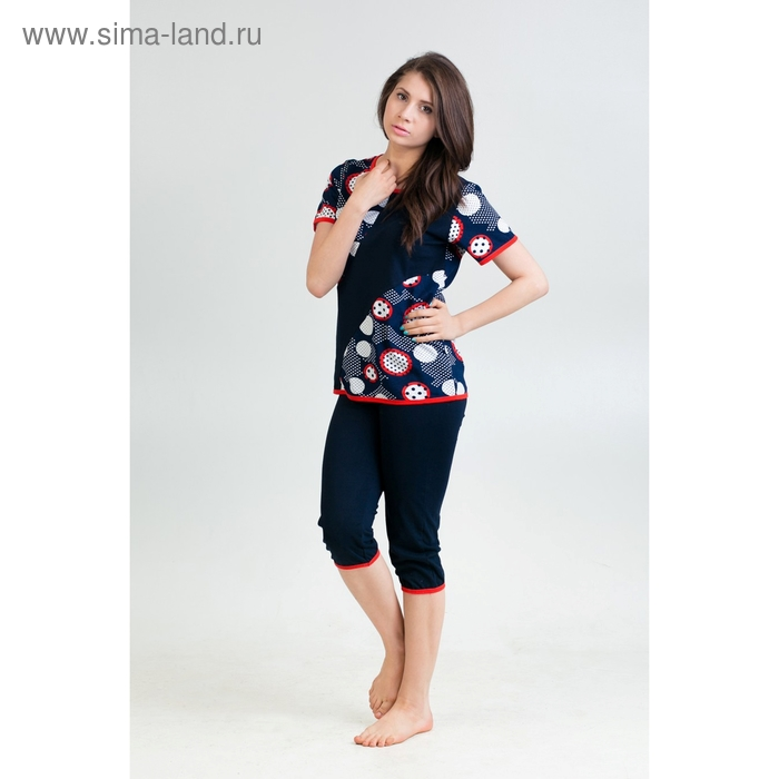 Комплект женский (футболка, бриджи) Инна МИКС, р-р 52