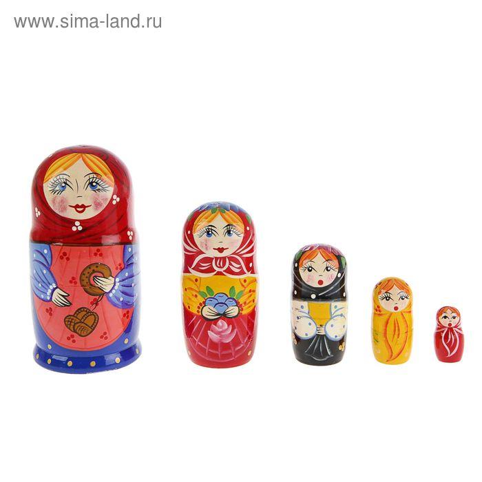 """Матрешка """"С лаптями"""" 5 кукол, художественная роспись"""