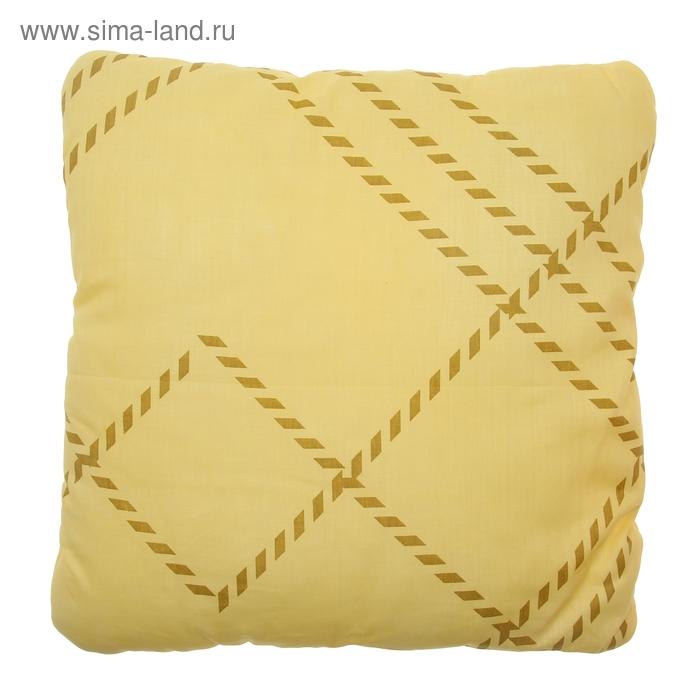 Подушка плоская, размер 40х40 см, файбер, бязь, цвет микс