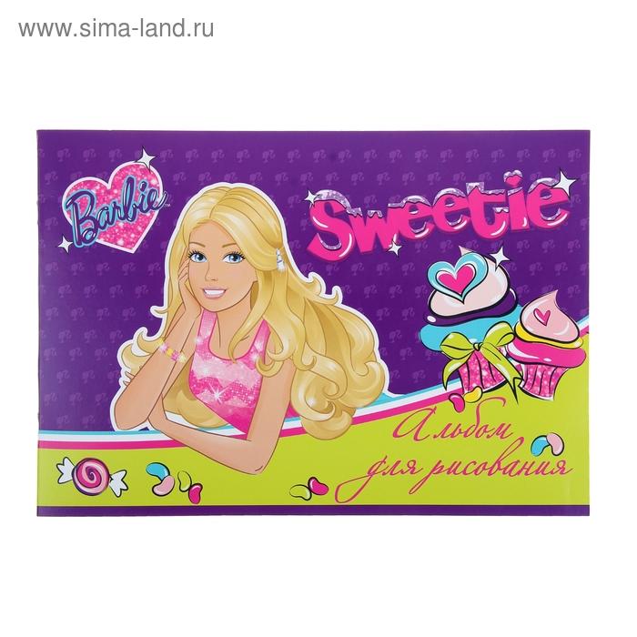 Альбом для рисования А4, 8 листов на скрепке Barbie, ВД-лак