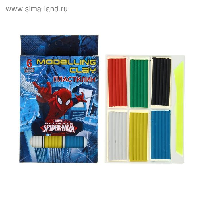 Пластилин 6 цветов Spiderman
