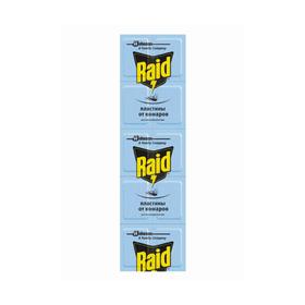 Пластины от комаров Raid регулярные 10 шт Ош