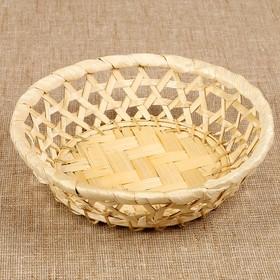 Фруктовница «Плетёнка», редкое плетение, 16×4,5 см, бамбук