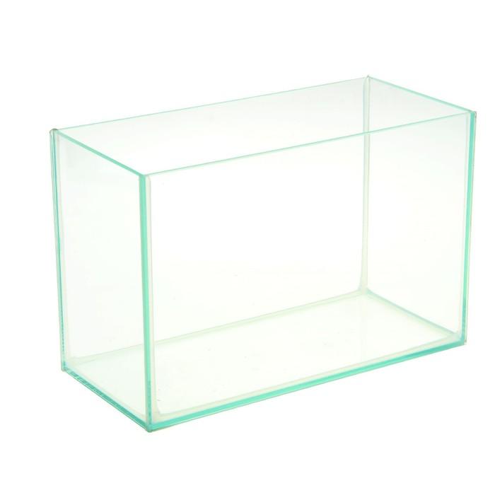 Аквариум прямоугольный без крышки 10л, 32x15x21 см