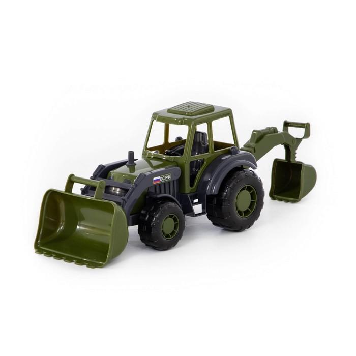Трактор-экскаватор «Мастер» военный - фото 105650180