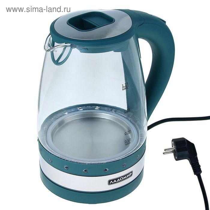 Чайник электрический Ладомир 115, 1,7л, 2кВт, зеленый