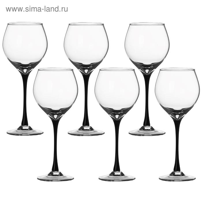 """Набор фужеров для белого вина 250 мл """"Черная ножка"""", 6 шт"""
