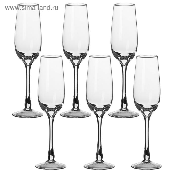 Набор бокалов для шампанского 180 мл, 6 шт