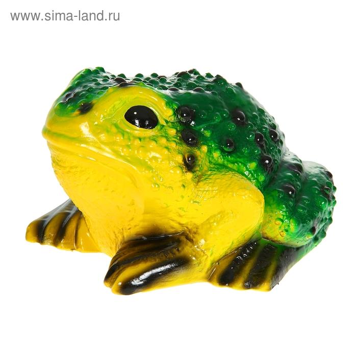 """Садовая фигура """"Жаба"""" светло-жёлтое брюшко, тёмно-зелёная спинка, акрил"""
