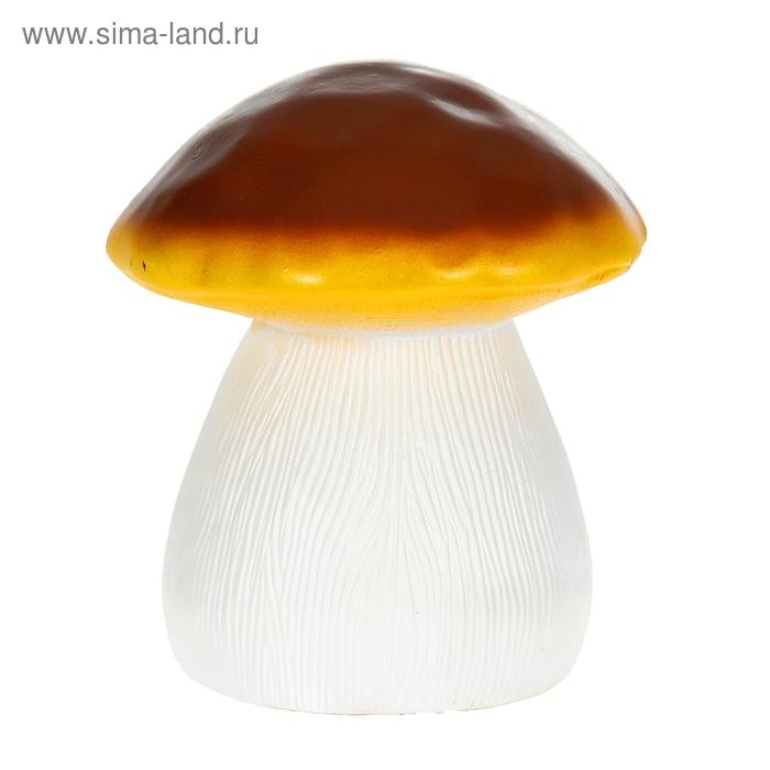 """Садовая фигура """"Гриб"""" малая, коричнево-жёлтая шляпка"""