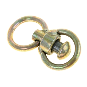 Swivel with ring, medium, length 6.5 cm, ring diameter 3.5 cm, thickness of band wire 0.4 cm