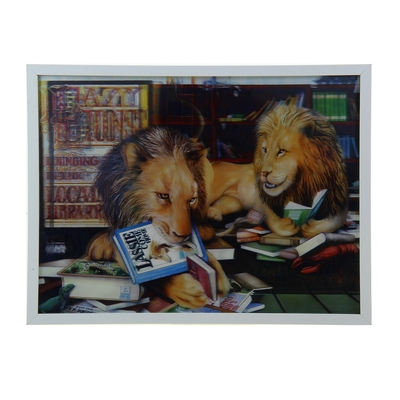 """Картина объёмная 3D """"Львы читают"""""""