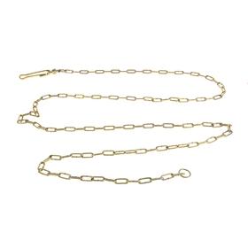 Chain leash for dog, 3 m, 3.5 x caliber 26 mm, yellow